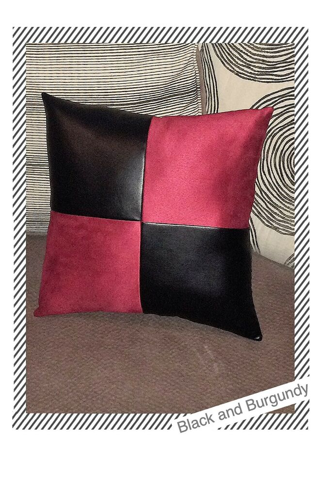 Home sofa black leather suede Fabric decorative case cushion throw pillow cover eBay