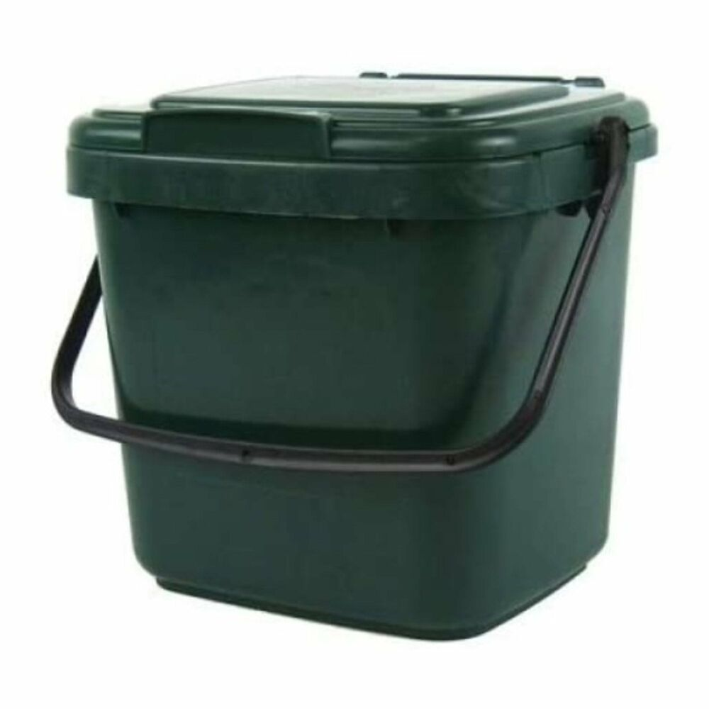 straight kitchen composter bin c w handle 5l green compost caddy
