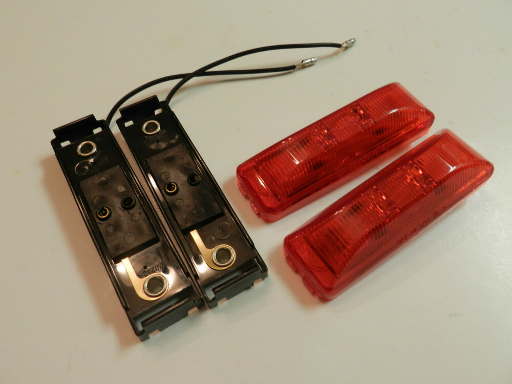 Light Lenses 1x4 : Led lights surface mount w base red clearance