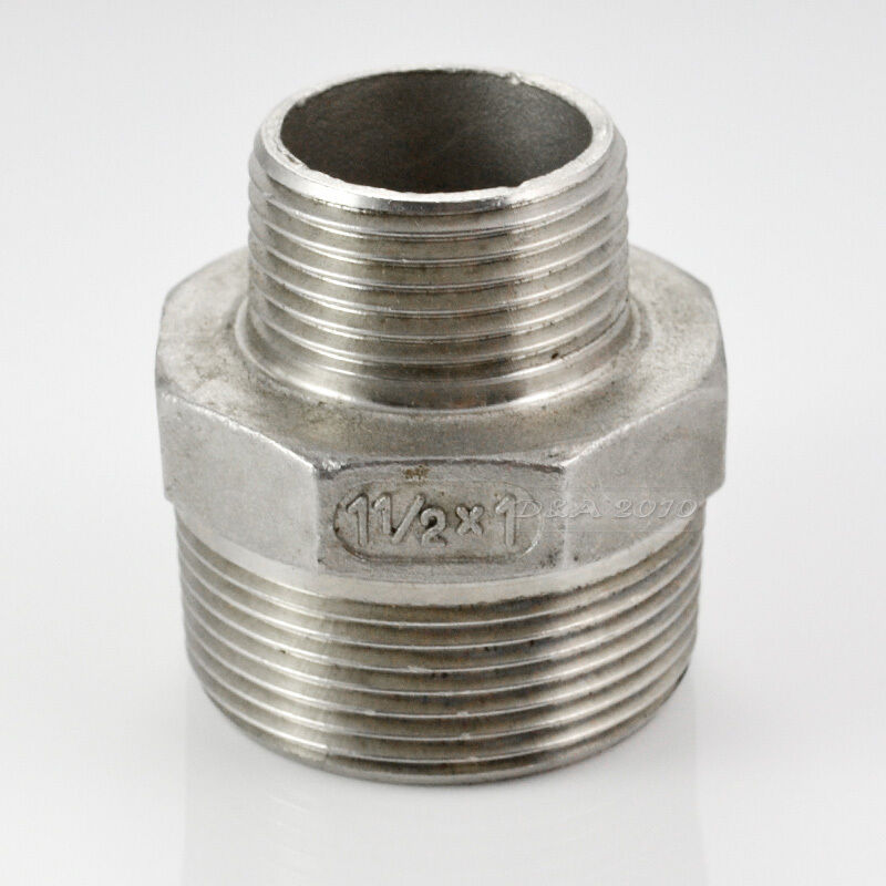 Quot male hex nipple threaded reducer pipe fitting