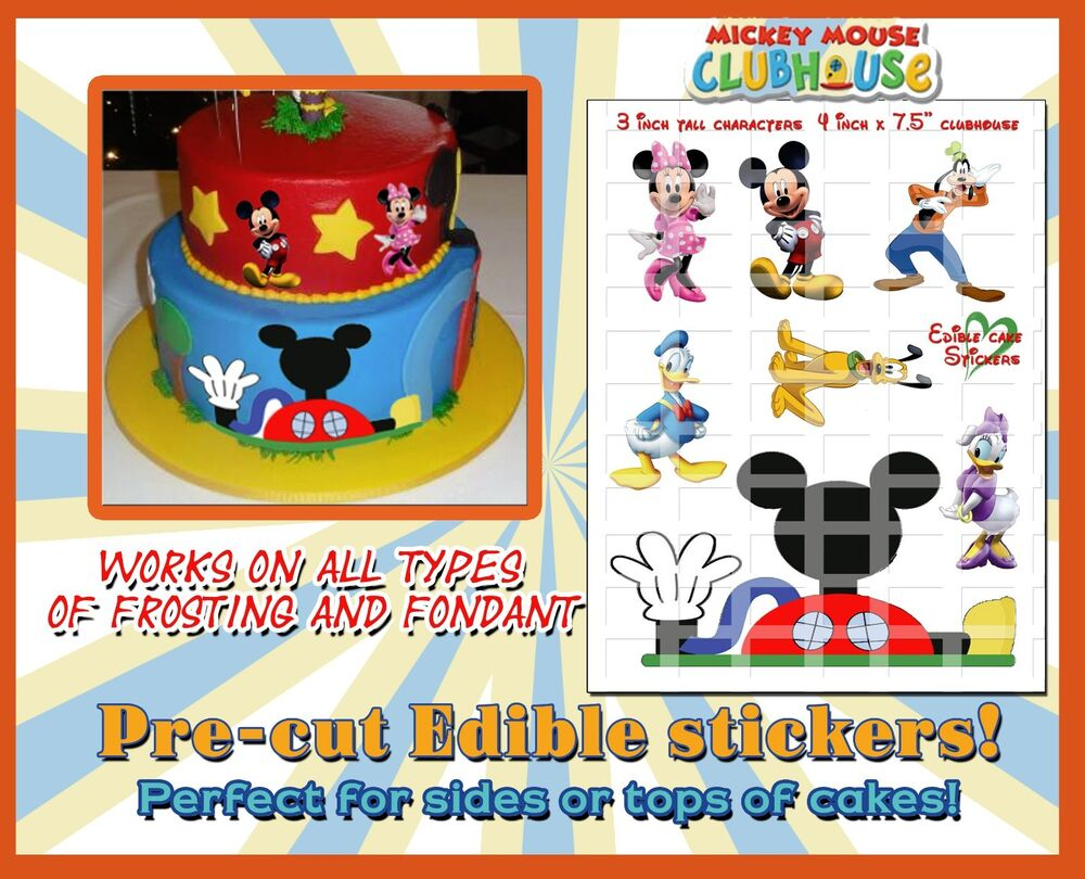 Mickey mouse Clubhouse edible Cake image characters sugar ...