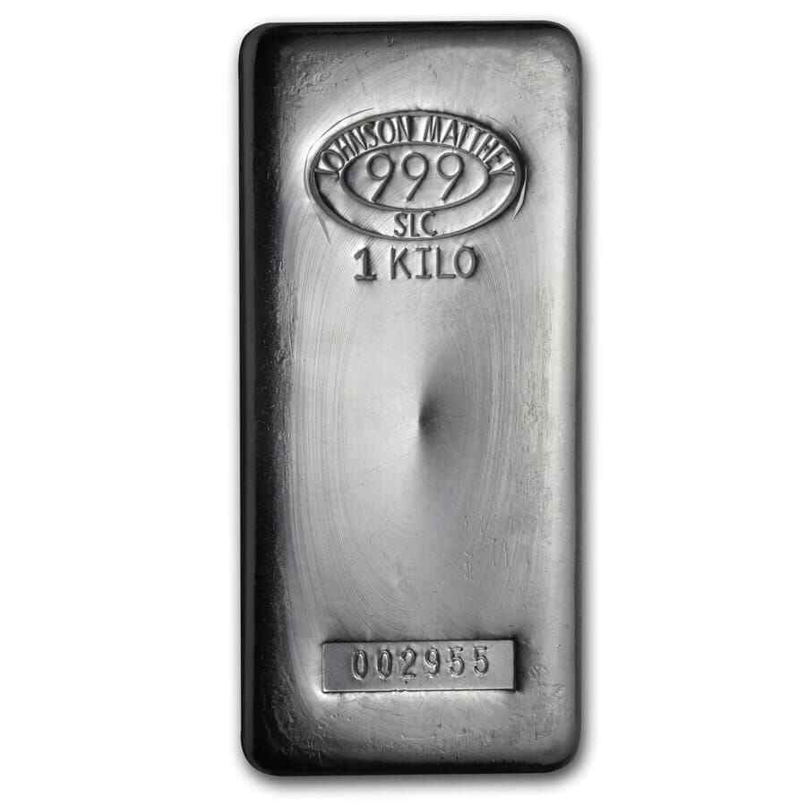1 Kilo Johnson Matthey Silver Bar Sku 85203 Ebay