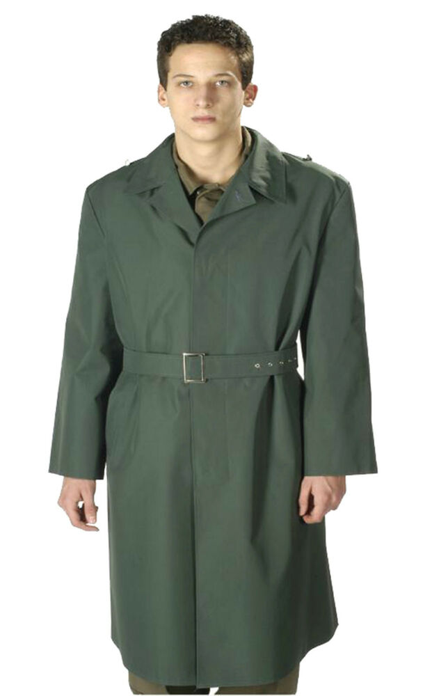 Genuine German Army Mens Nva Green Officers Trench Coat