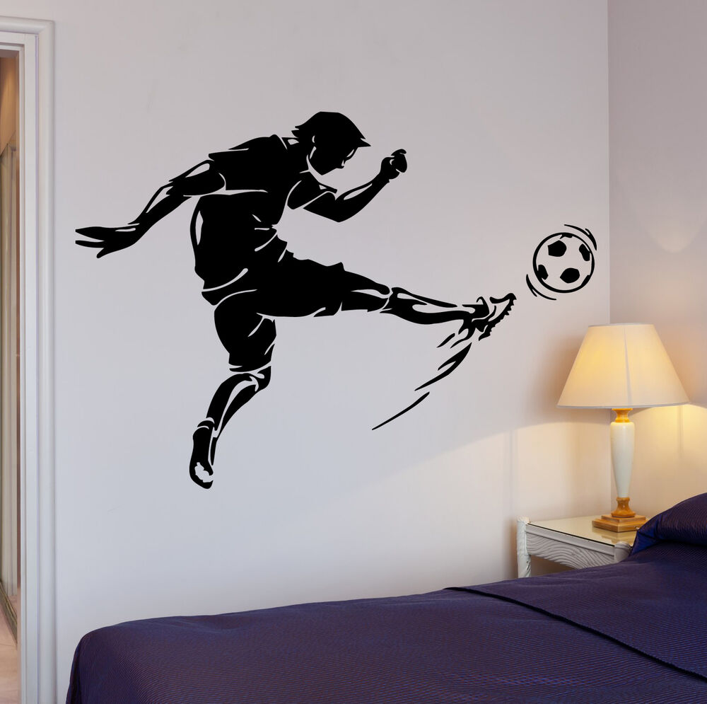 Wall Decal Soccer Kick Football Ball Sport Decor Cool
