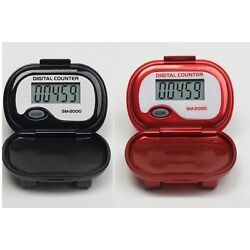 PedUSA SM-2000 Step Pedometer - LCD Display | Walking | Steps Only | Cover