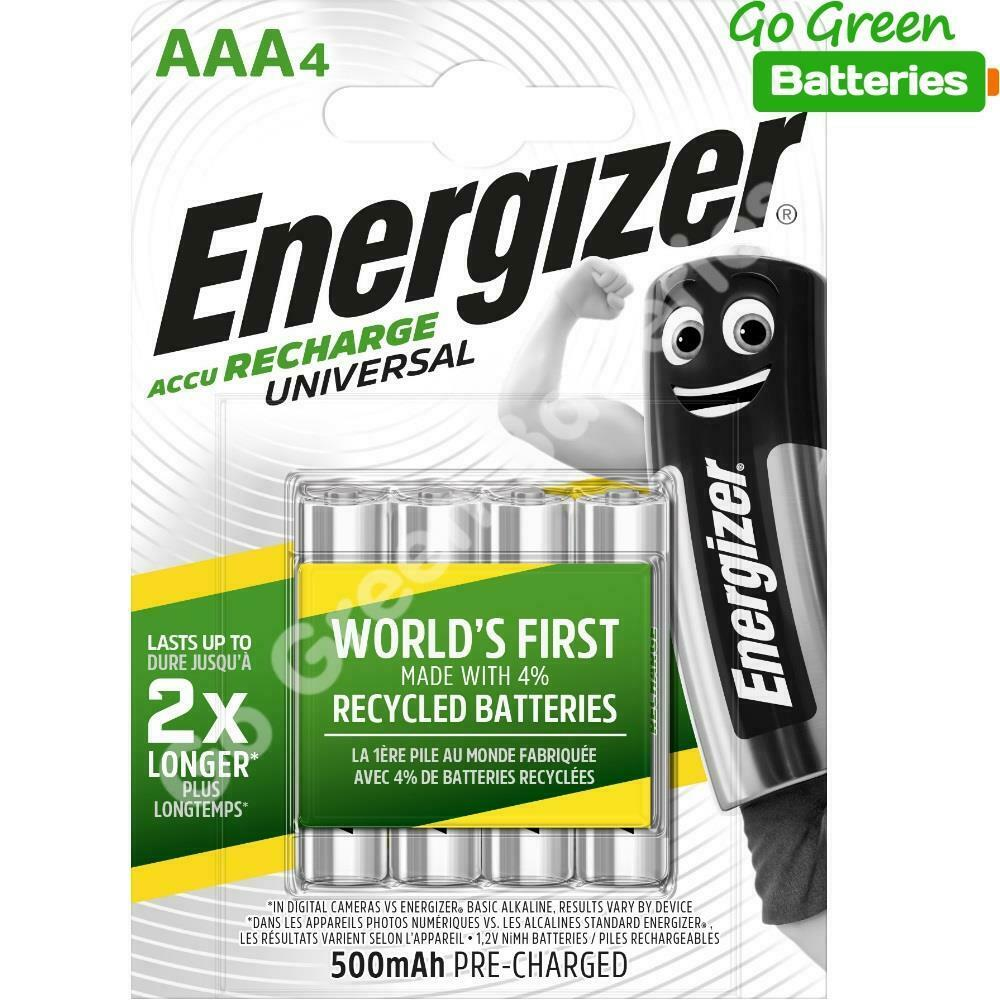 4x energizer aaa 500 mah rechargeable batteries phone dect staycharged nimh lr03 ebay. Black Bedroom Furniture Sets. Home Design Ideas