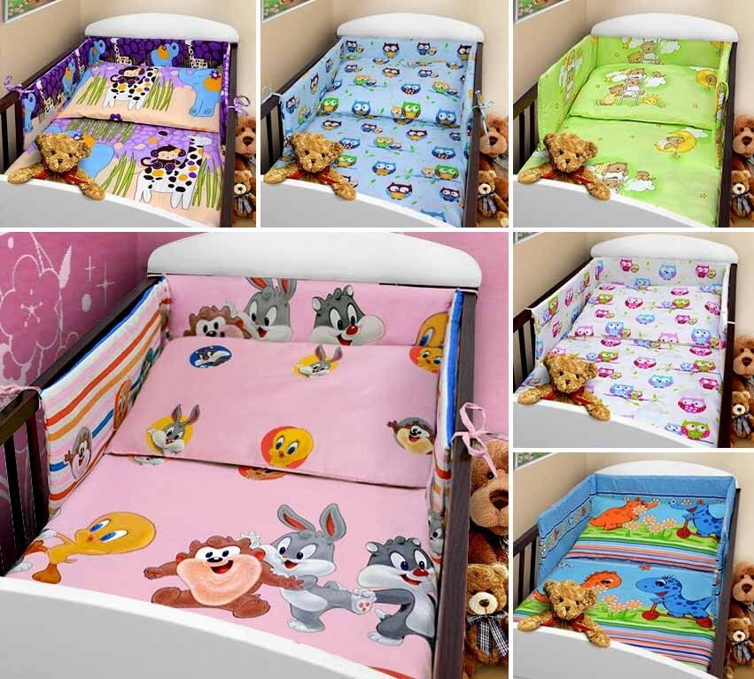 Baby Bedding Set 2 Piece Pc Cot Bed Crib Quilt Duvet