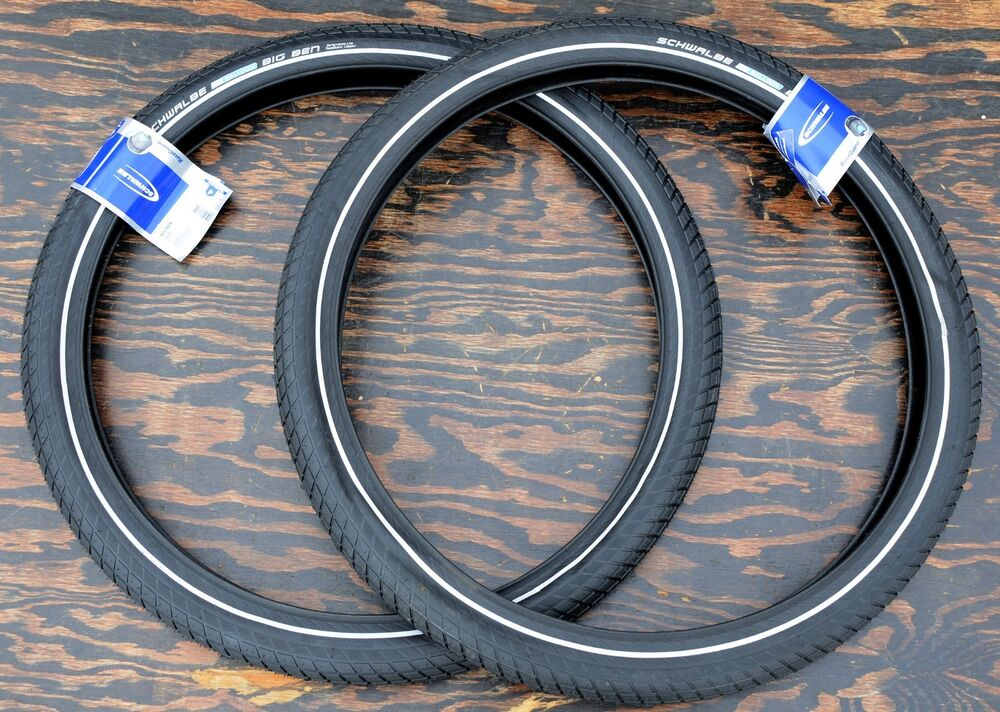 Schwinn 26 Cruiser Bicycle Tires : Quot x black schwalbe bb cruiser bicycle tires vintage