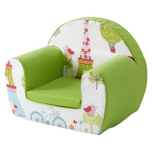 Paris lime childrens kids comfy foam chair toddlers for Toddler foam chair