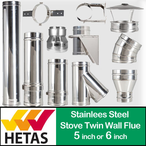 Twin wall insulated stainless steel flue system pipe kc