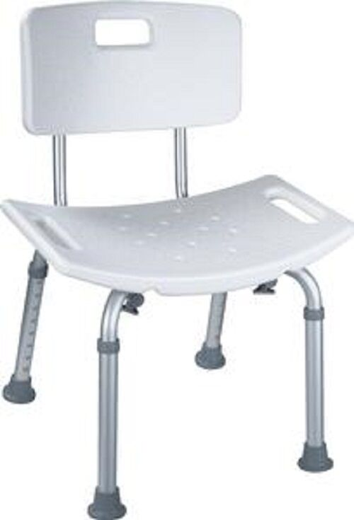 300 Lb Elderly Bathtub Bath Tub Shower Seat Chair Bench Stool With Back Supp