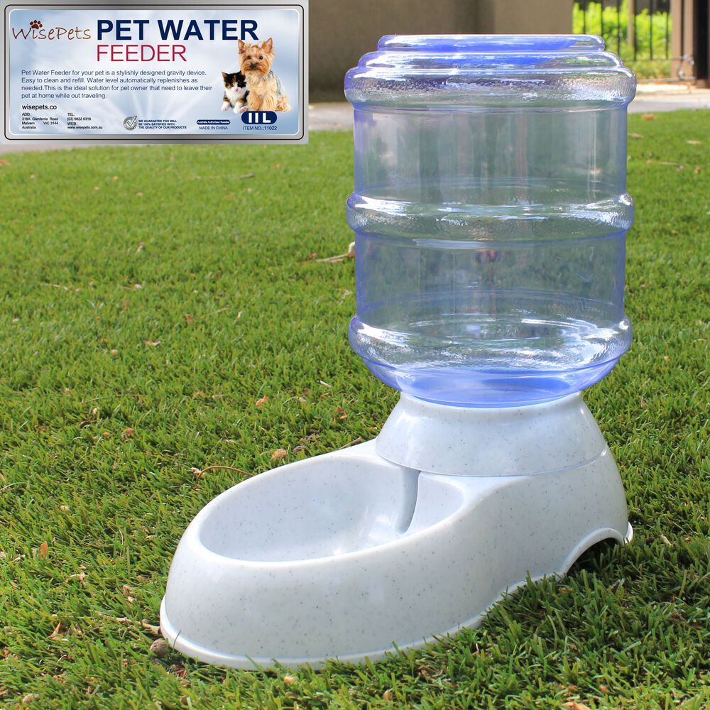 Large Automatic Pet Dog Cat Water Feeder Bowl Bottle