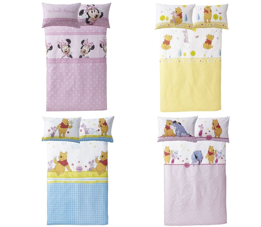 disney baby bettw sche 100 x 135 cm winnie pooh minnie maus sorgenfresser pitzel ebay. Black Bedroom Furniture Sets. Home Design Ideas