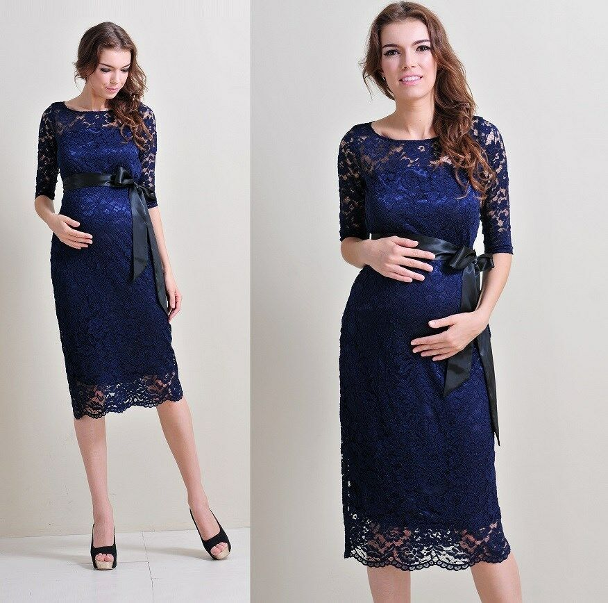 Maternity evening dress maternity gown party babyshower for Maternity dresses for wedding party
