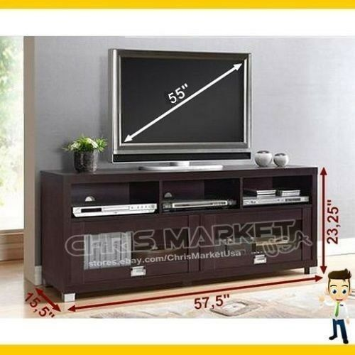 55 tv stand entertainment media center bedroom living room furniture