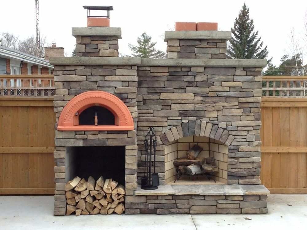 Wood fired pizza oven kit spazio 90 indoor outdoor for Wood burning outdoor fireplace kits