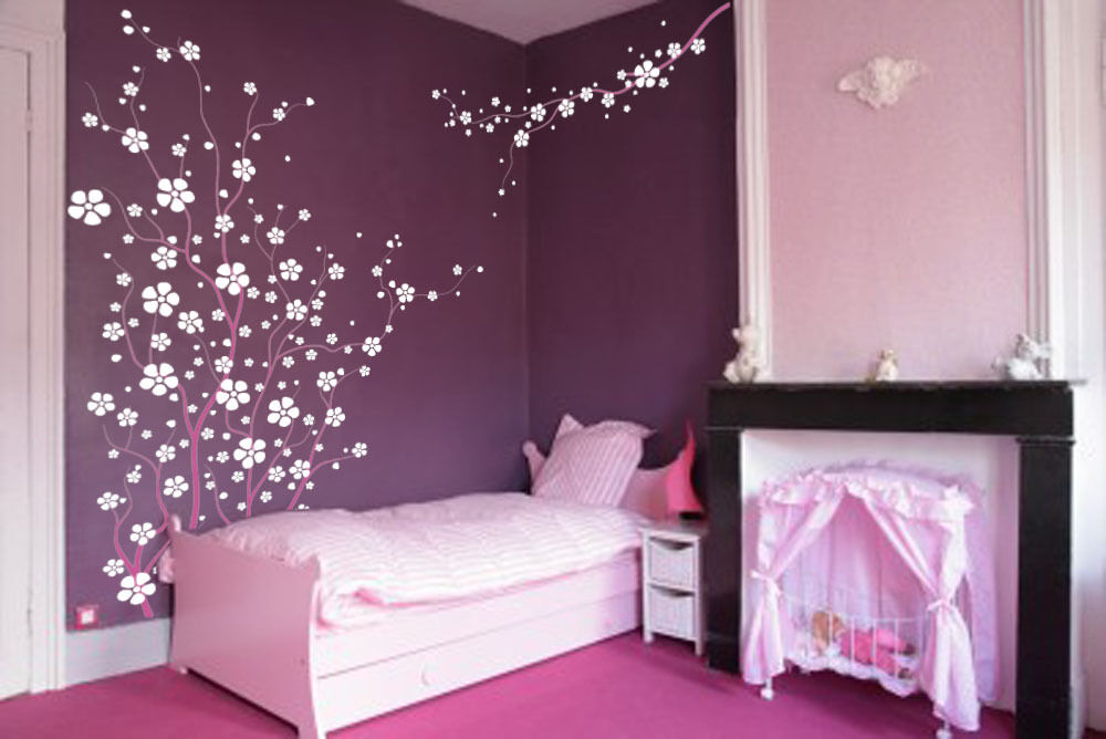 Large Wall Tree Cherry Flower Blossom Nursery Decal Branch