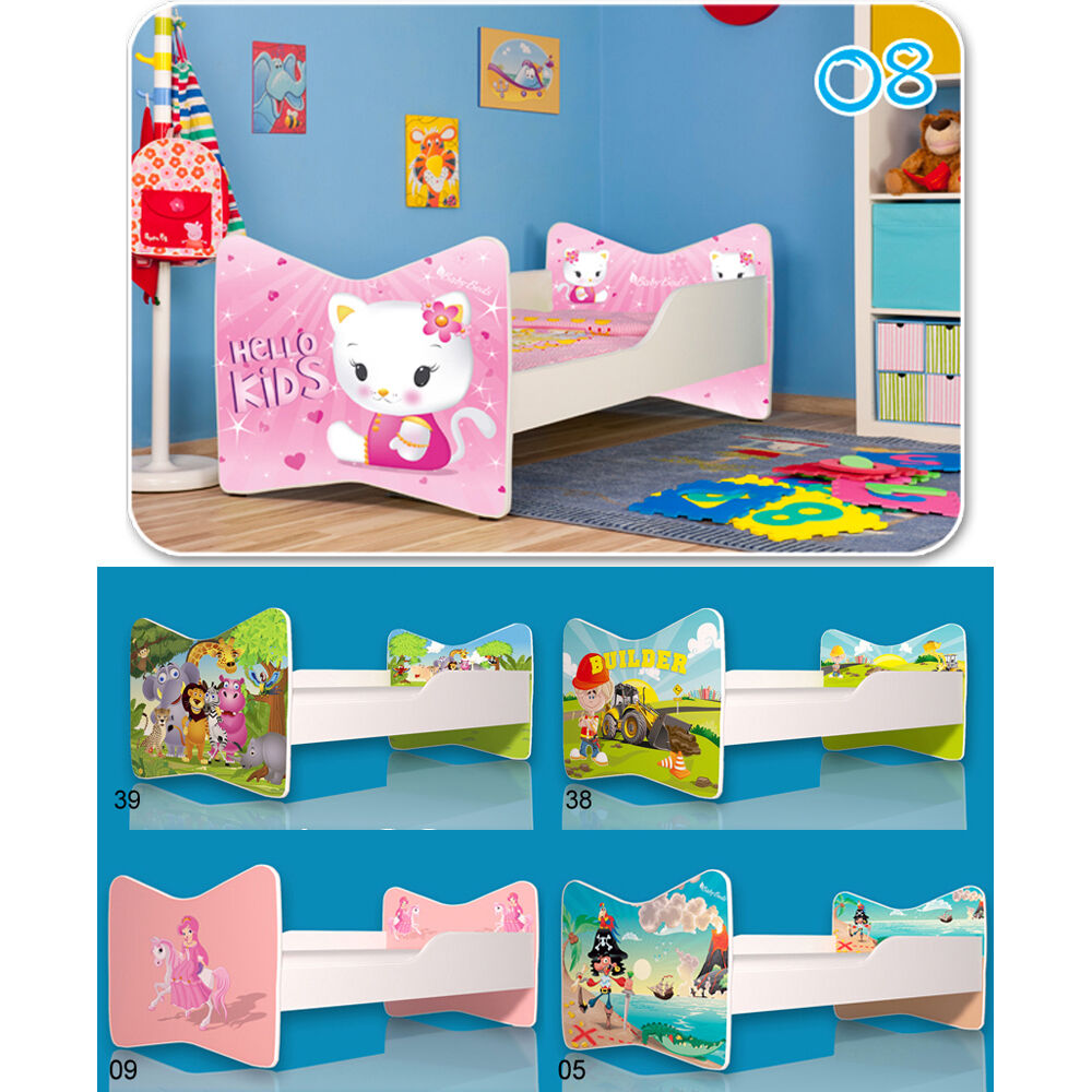 kinderbett jungen m dchen bett babybett matratze lattenrost spielbett 140x70cm ebay. Black Bedroom Furniture Sets. Home Design Ideas