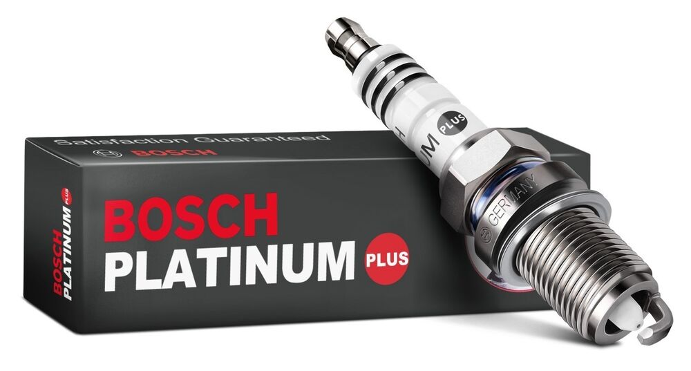 bosch platinum plus spark plugs fr7dpp set of 4 ebay. Black Bedroom Furniture Sets. Home Design Ideas