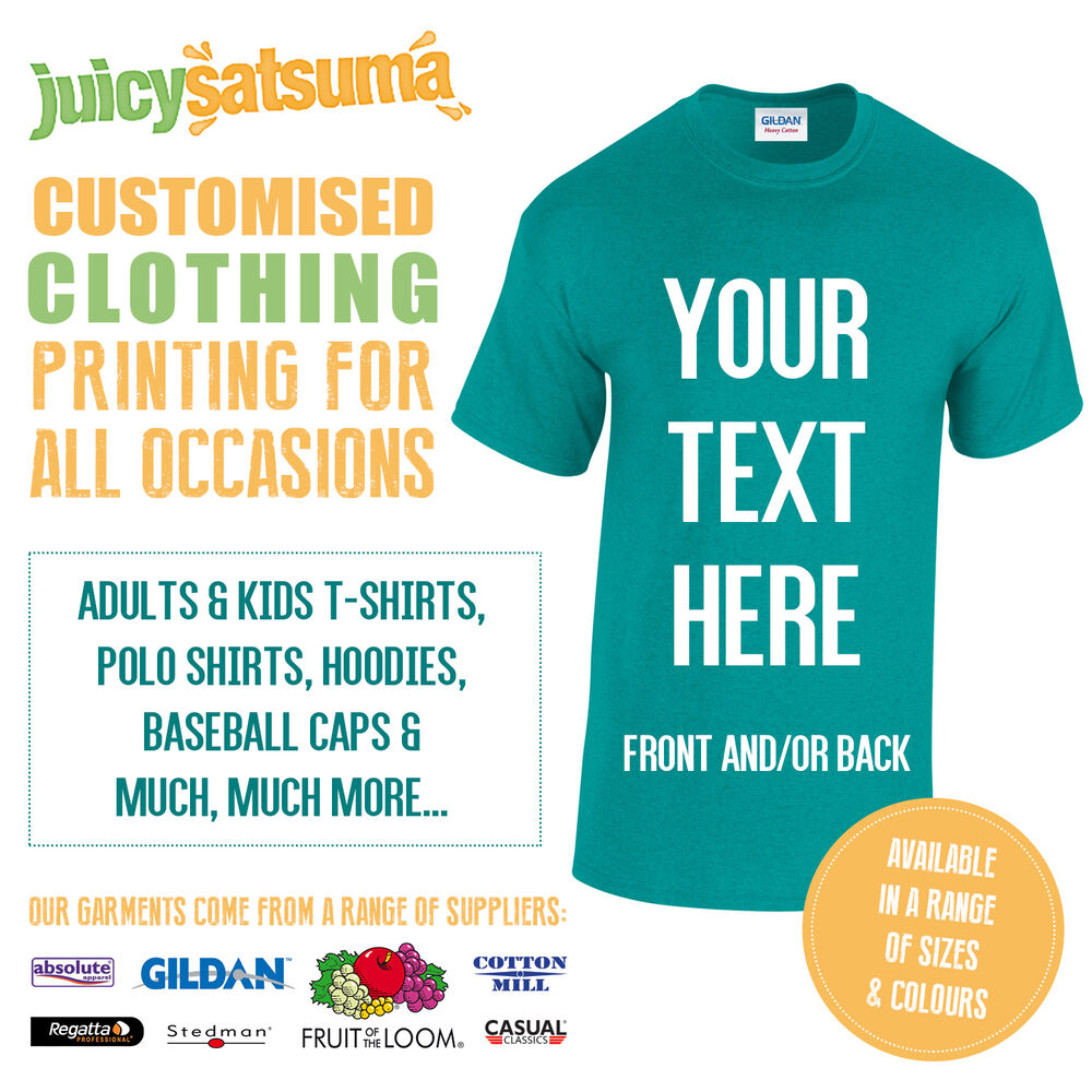 Custom Printed Personalised T Shirts Design Your Own Tee