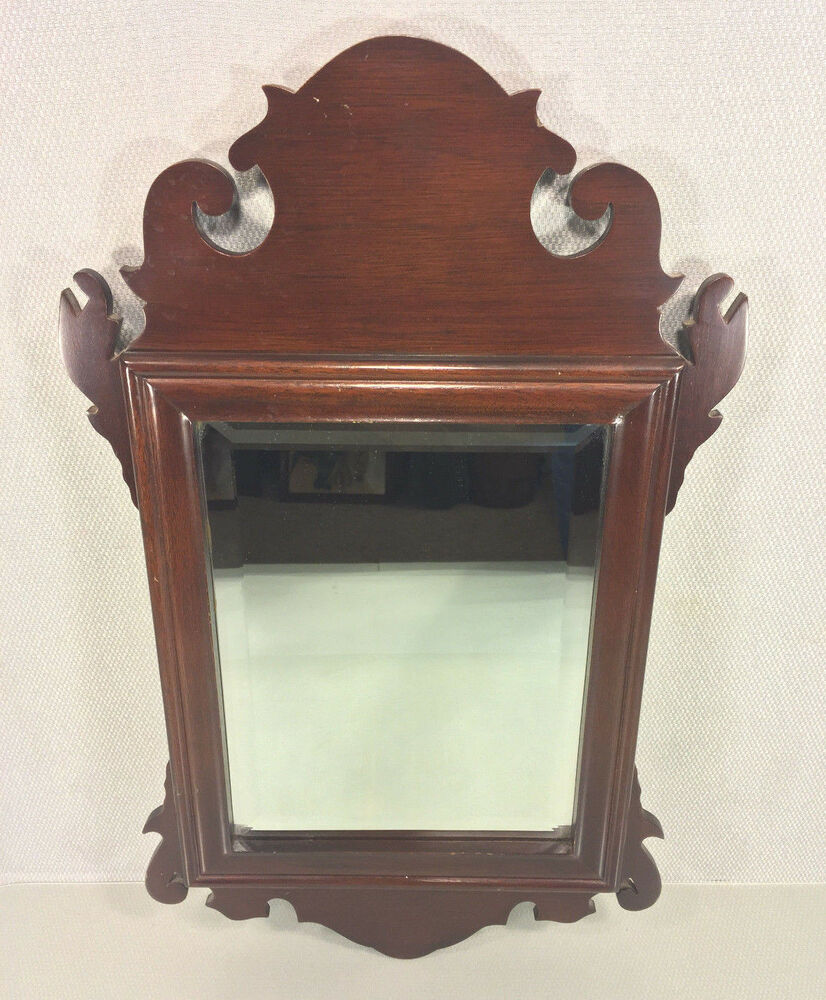 Vintage chippendale style mirror with beveled glass made for Beveled glass mirror
