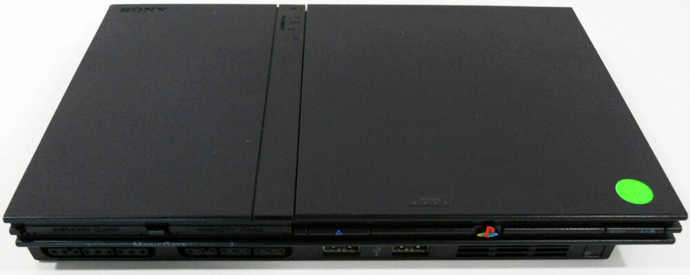 PS2 Sony PlayStation 2 Slim Console - Refurbished - 90 Day ... Ps2 Console Back