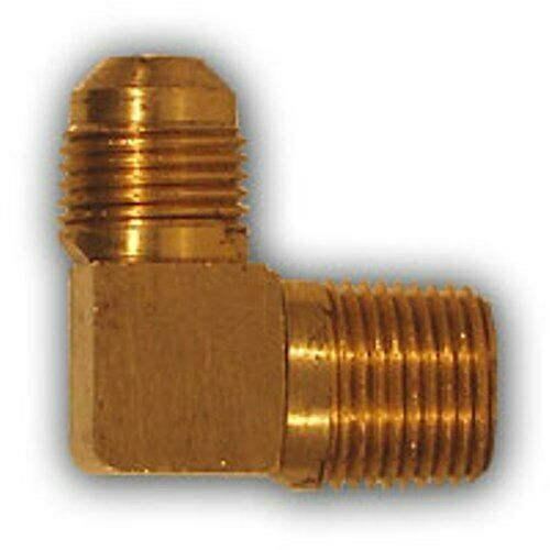 Inch flare male elbow mpt pipe adapter brass