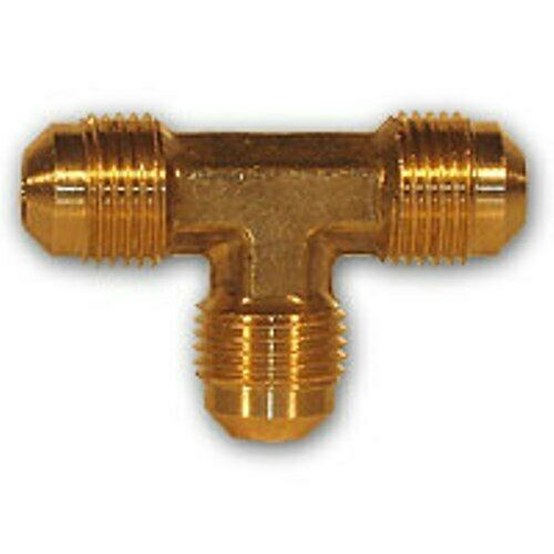 Inch flare tee brass pipe fitting npt soft copper air