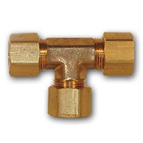Inch od compression tee brass pipe fitting npt thread