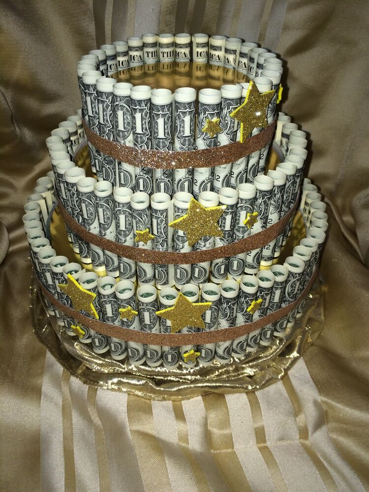 Money And Candy Cake