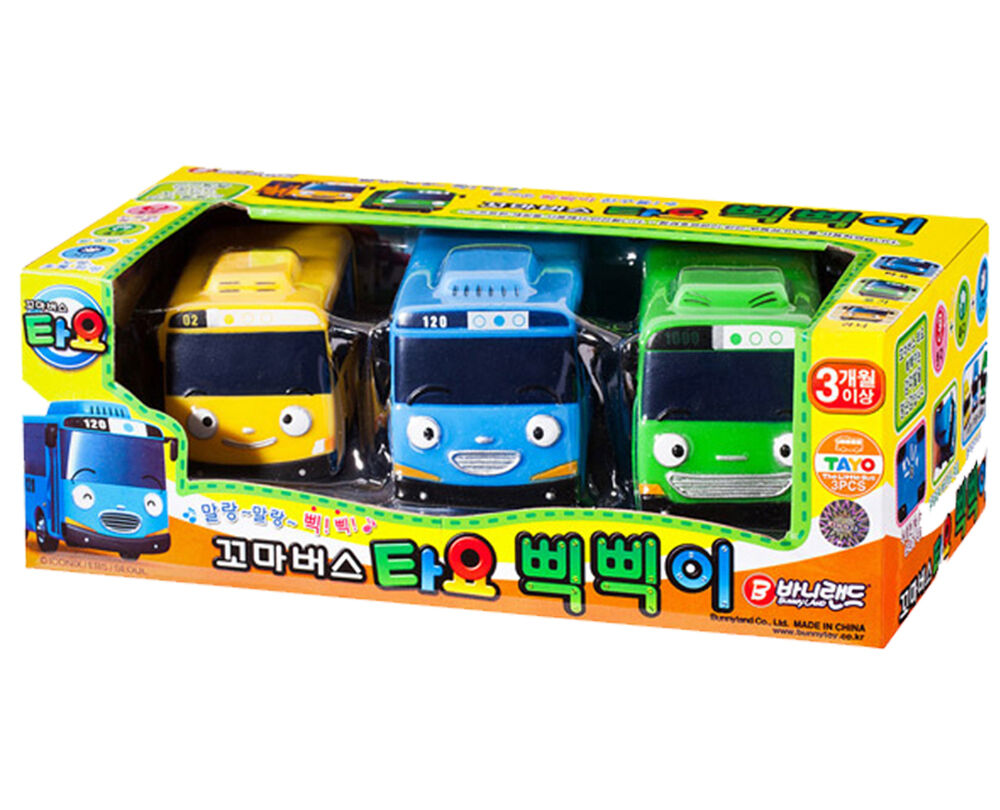 Tayo the Little Bus Soft 3 Cars Toy Set Safe Character ...