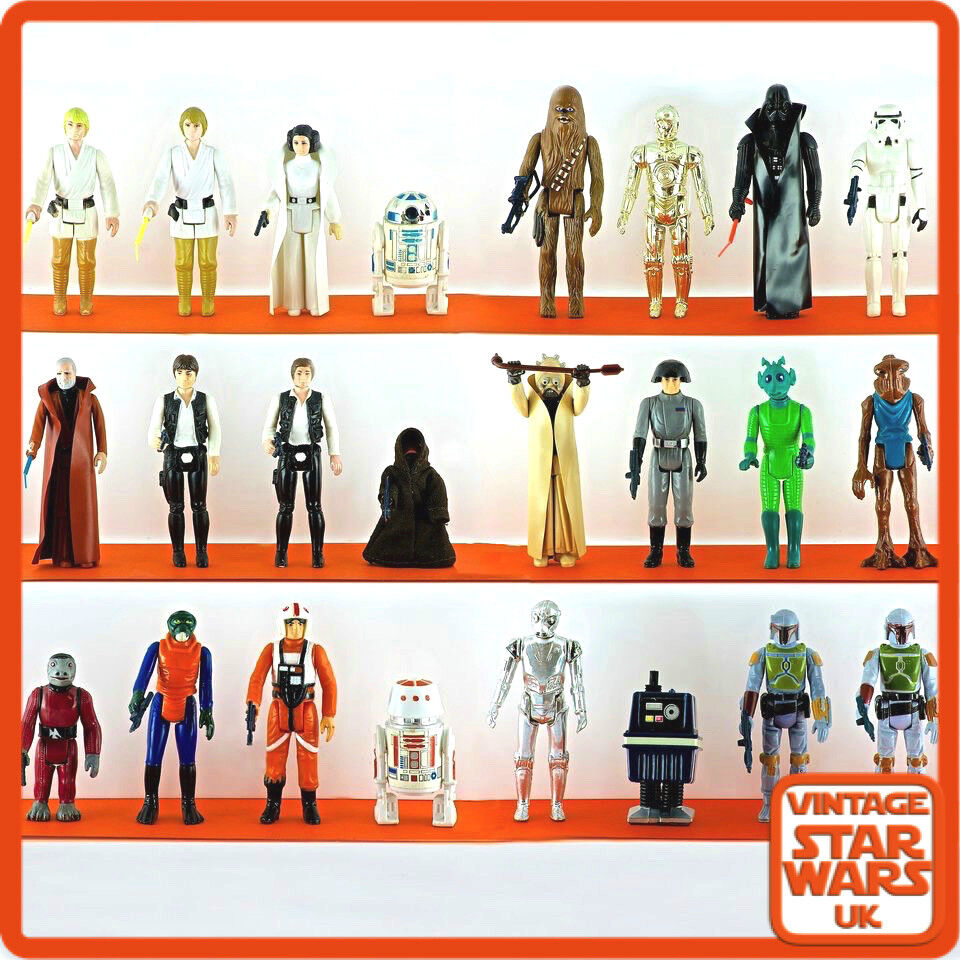 Original Star Wars Toys : Vintage star wars a new hope figures complete with