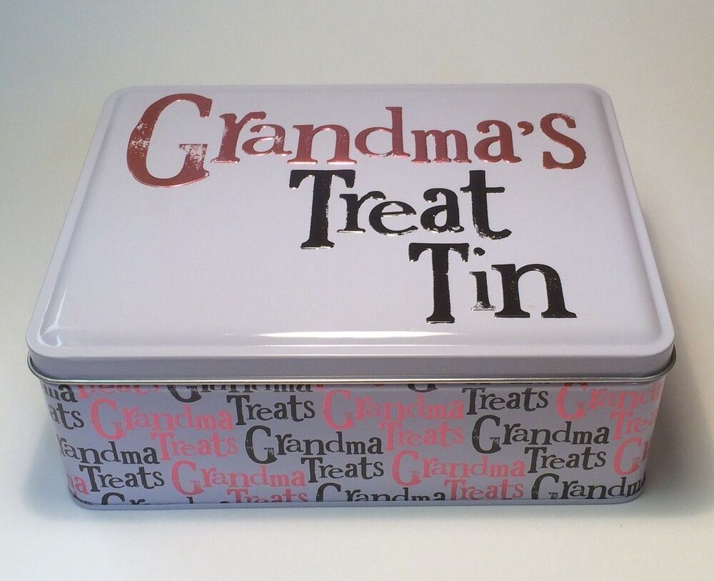 Grandma 39 s treat tin gift ideas for her birthday mum for What to get grandma for her birthday
