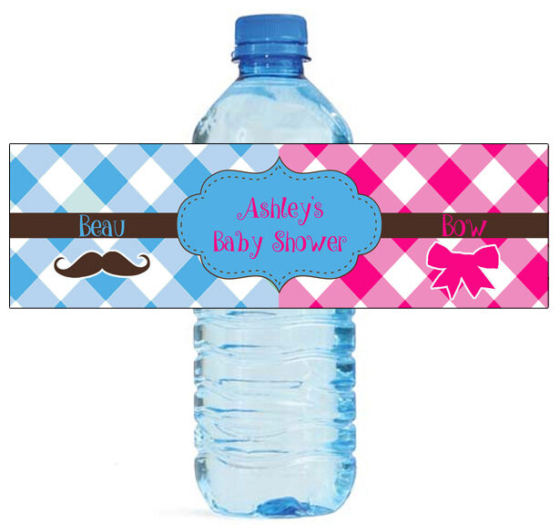25 Gender Reveal Beau Or Bow Baby Shower Celebration Water
