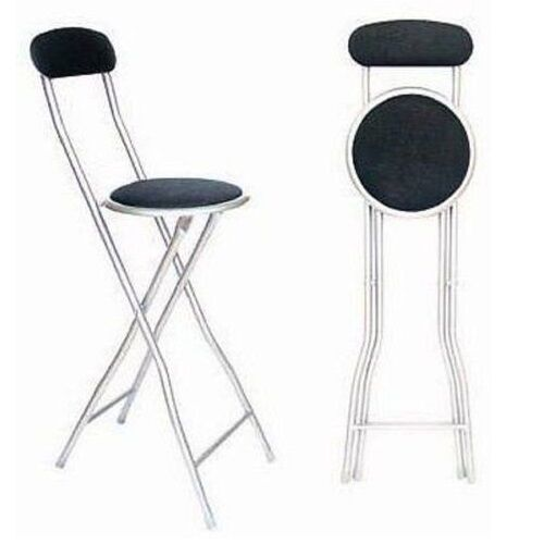 Folding Bar Stools ~ Black folding breakfast bar stool kitchen office padded