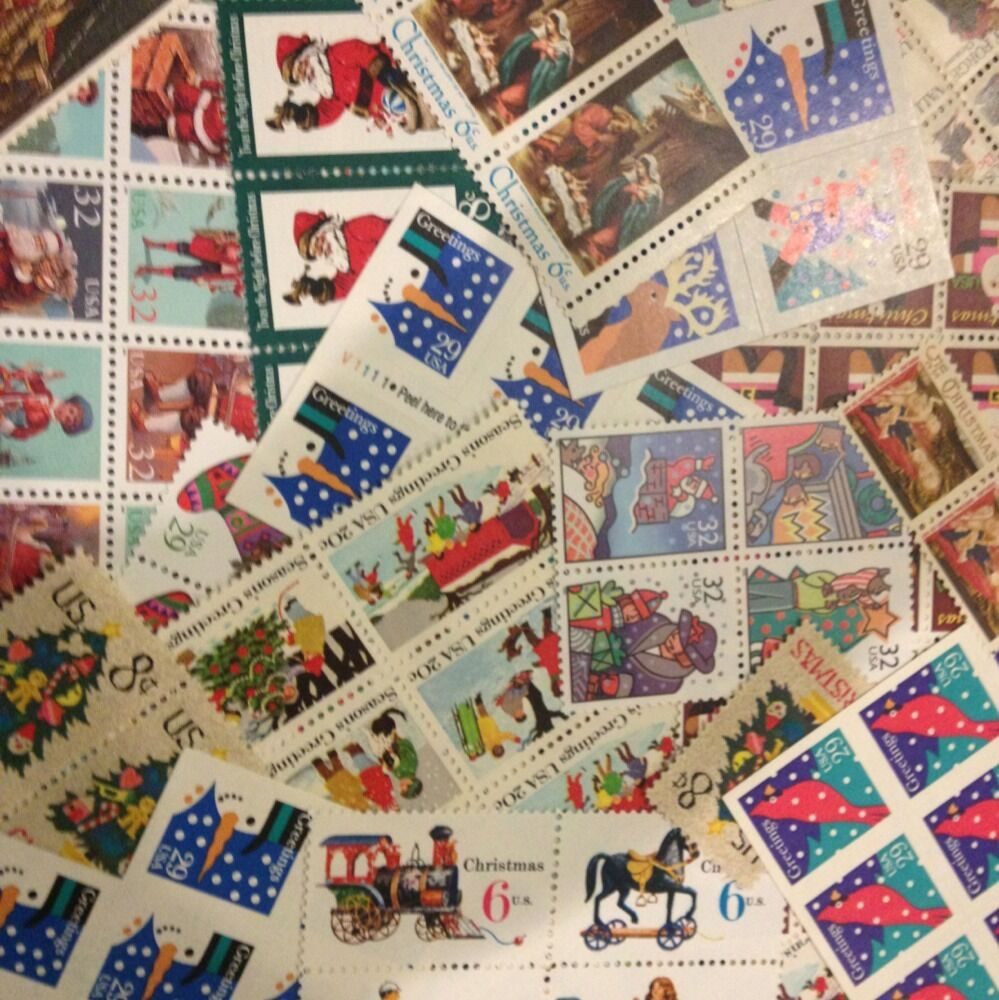30 face christmas stamps 4 cent to forever dress up your for How to ship a wedding dress usps