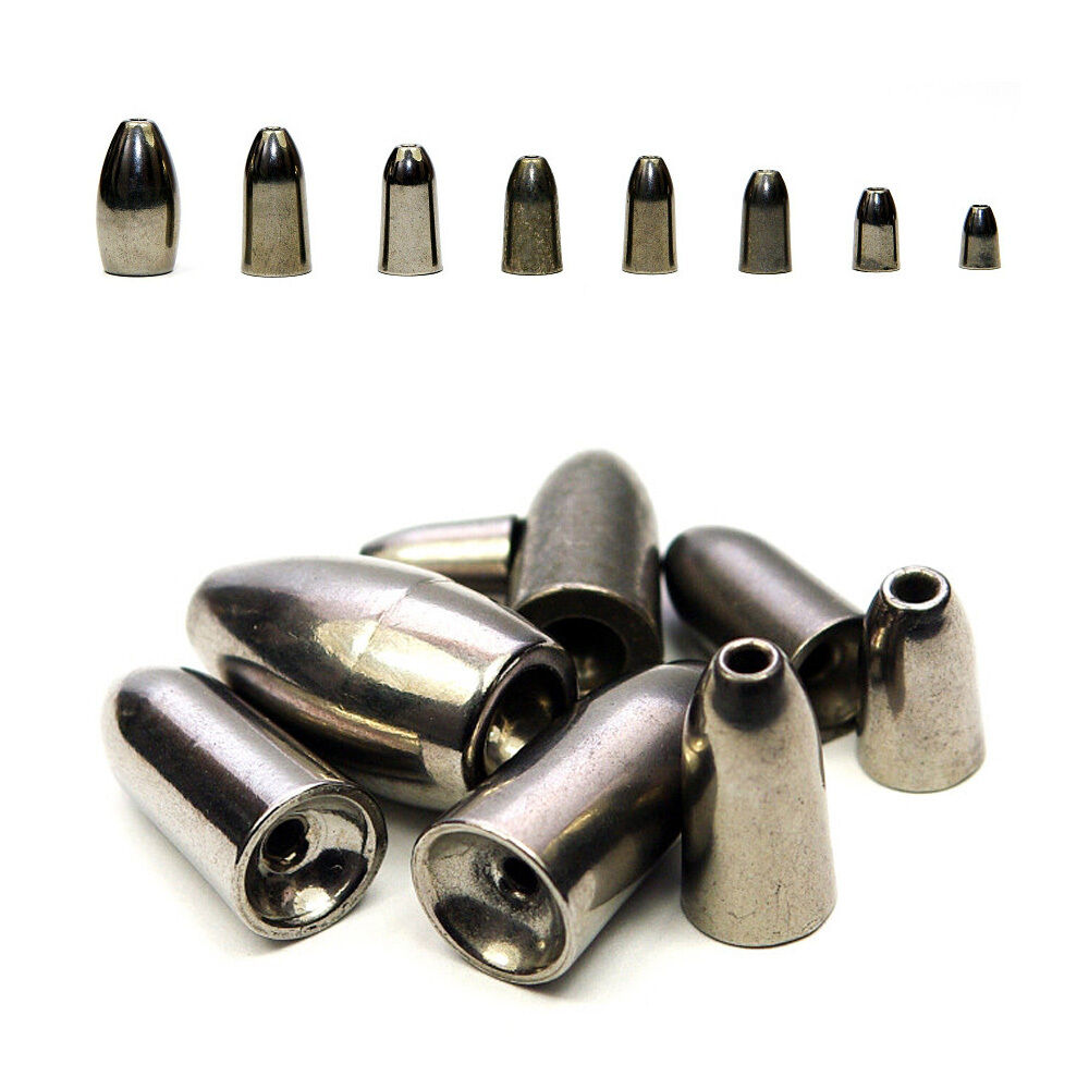 5pcs Tungsten Fishing Bullet Weights Leads Sinkers Baits