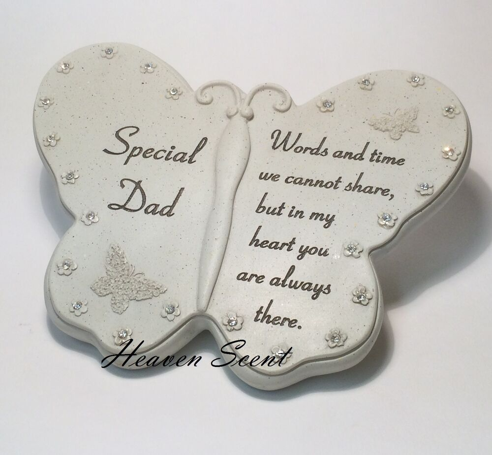 Memorial for special dad butterfly shaped