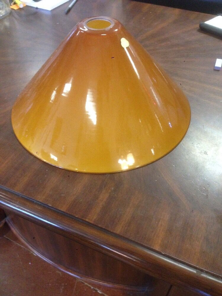 Vianne Cognac Or Amber Glass Shades Cone Shape Cased