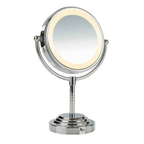 Conair Lighted Makeup Mirror Double Sided Halo Battery