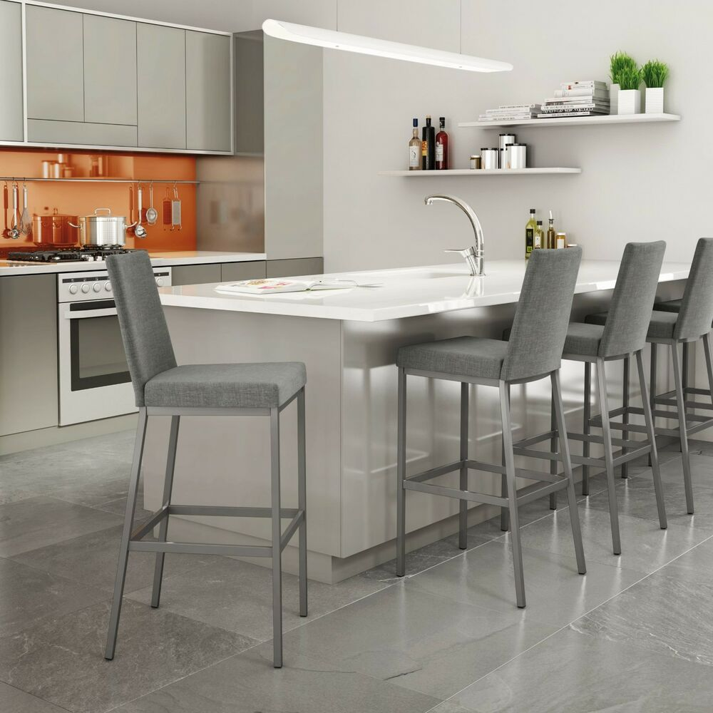 Amisco Linea Stationary Upholstered Counter Or Bar Stool