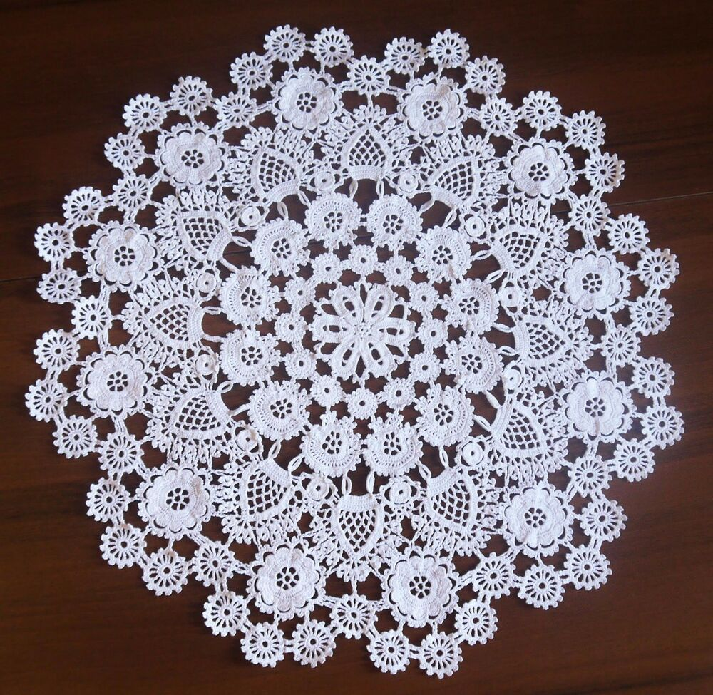 luxury handmade crochet doily for wedding ebay. Black Bedroom Furniture Sets. Home Design Ideas