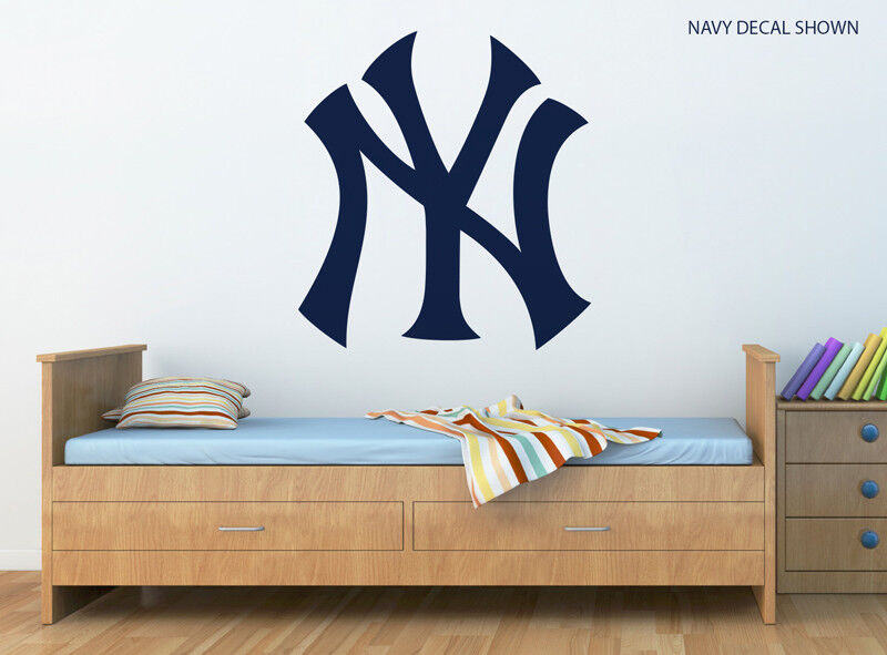 new york yankees home decor new york yankees logo wall decal w complementary sqeegee. beautiful ideas. Home Design Ideas