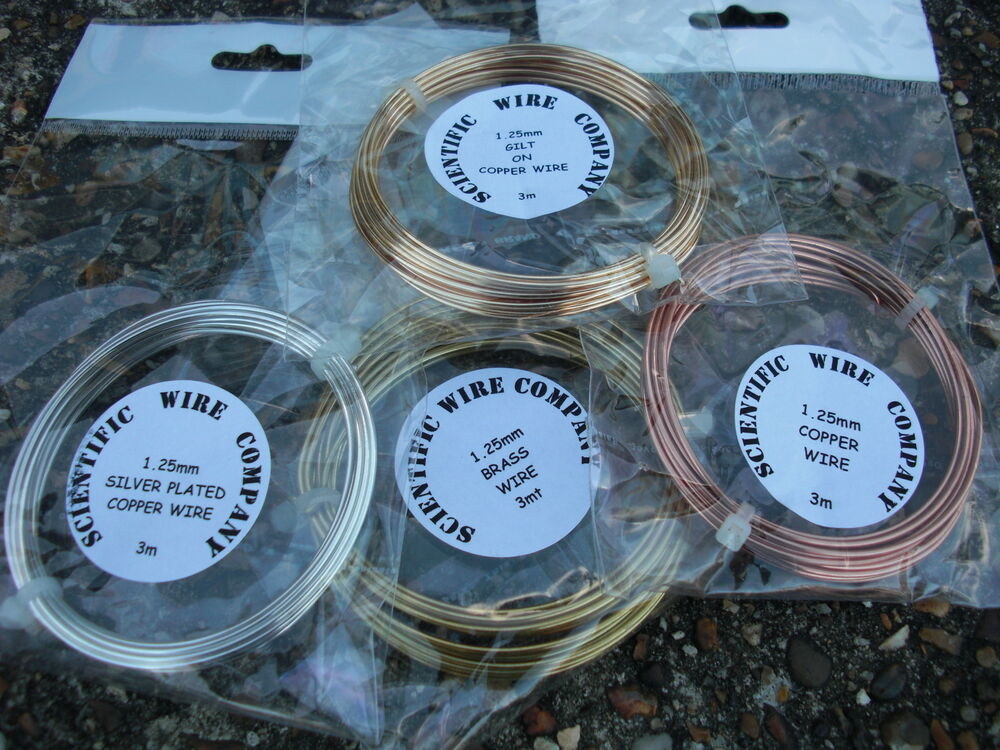 Craft wire Bundle . - SILVER PLATED COPPER - GOLD COLOURED - COPPER ...
