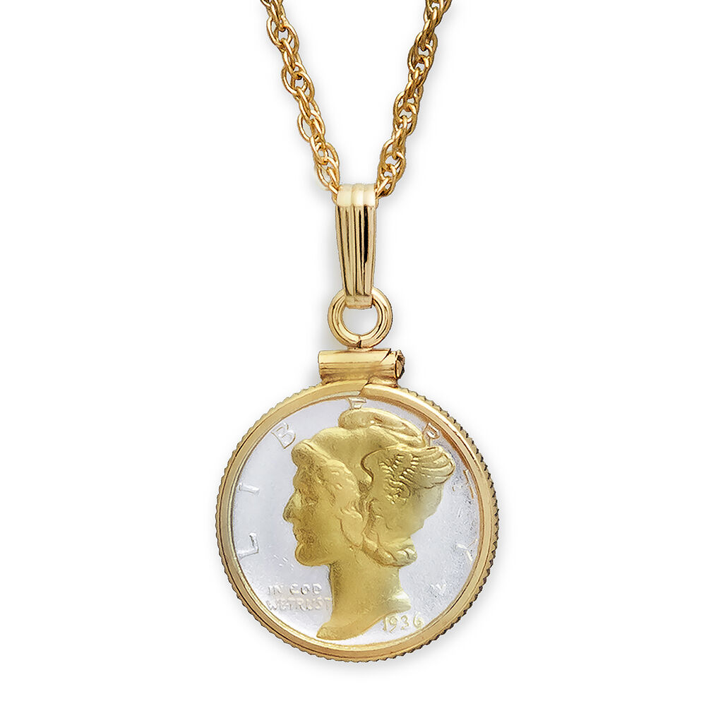 U.S. Mercury Dime Necklace - with Gift Packaging - SKU #82996