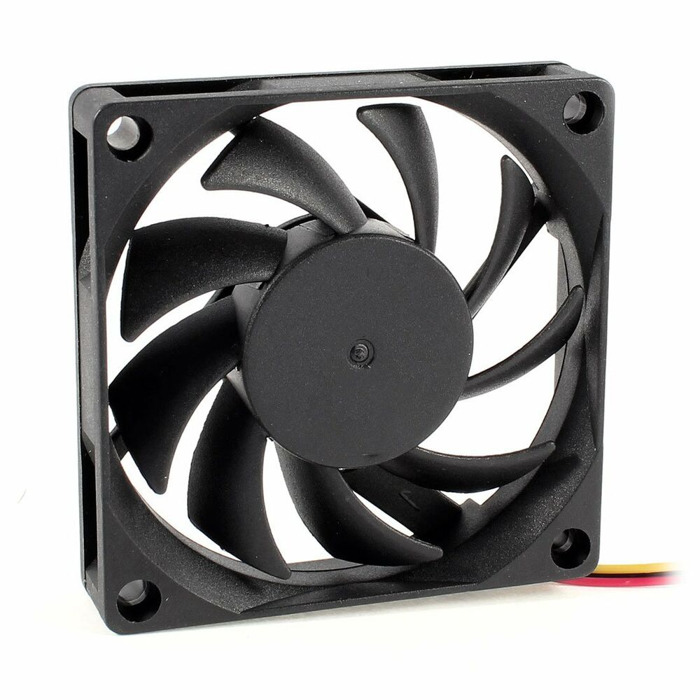 Computer Fan Cooler : Mm v pin pc computer case cpu dc brushless cooler