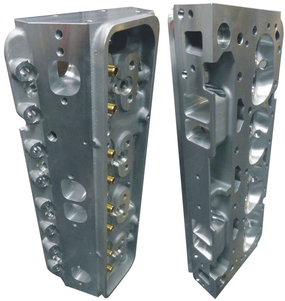Complete CNC Ported Aluminum Cylinder Heads Small Block