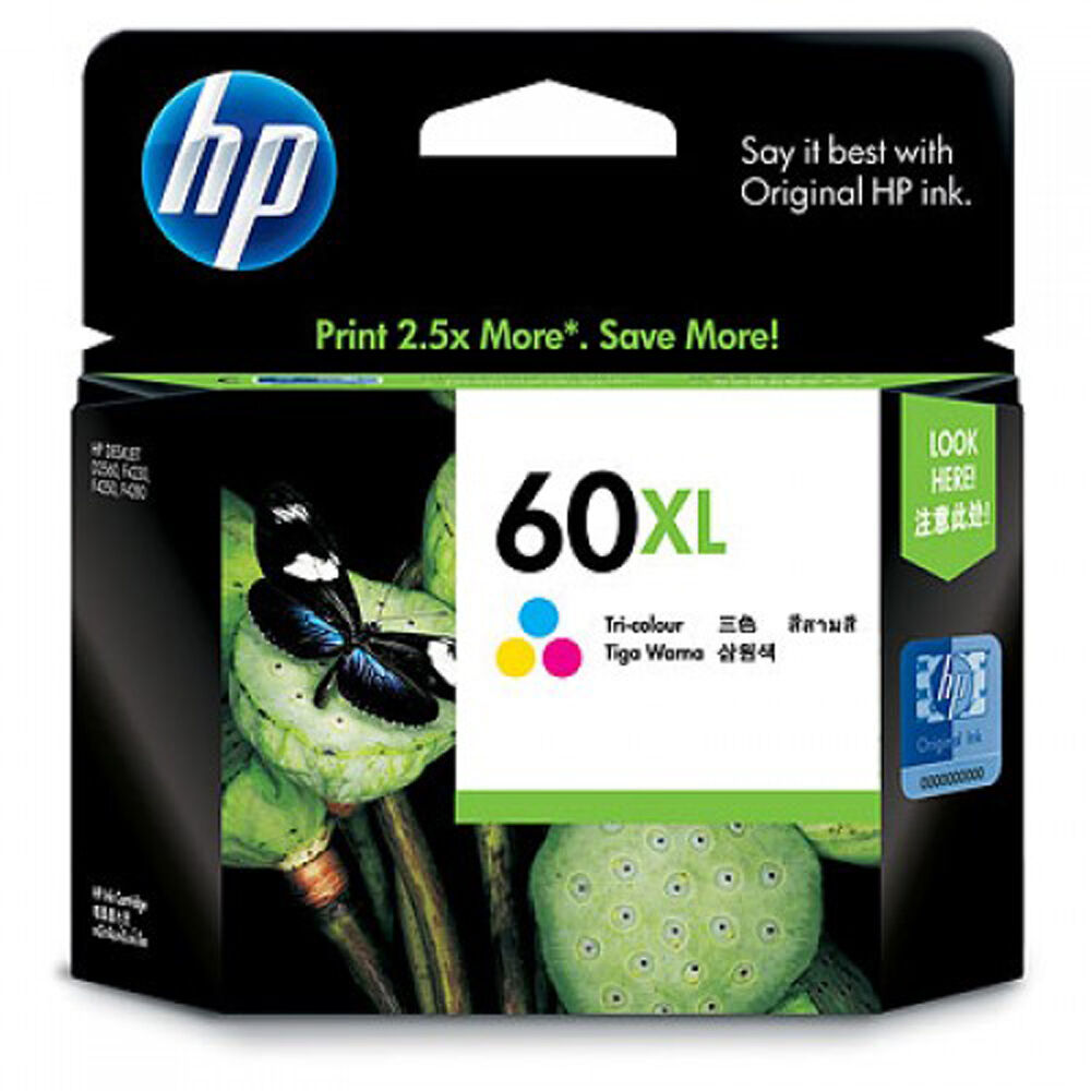 2016-2017 NEW IN BOX Genuine HP 60 XL Color Ink C4799 ...