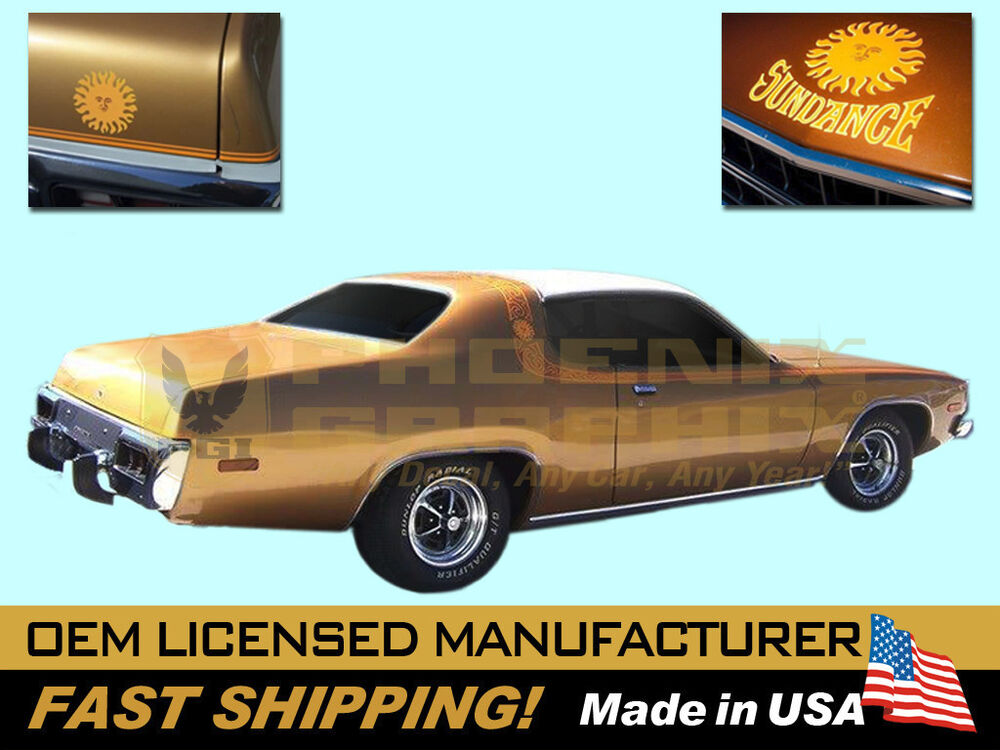 1974 Plymouth Satellite Sebring Sundance Stripes Decals
