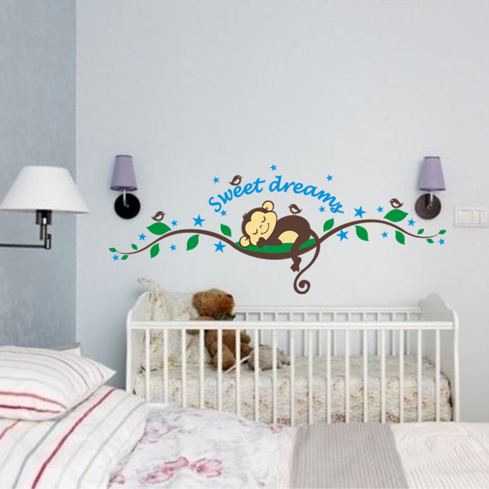 Wandtattoo original zooyoo affe wand sticker dschungel for Wandtattoo kinderzimmer dschungel